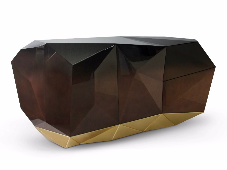 christmas decoration ideas Get Inspired by Golden Luxury Christmas Decoration Ideas Christmas Decoration Ideas diamond sideboard by boca do lobo