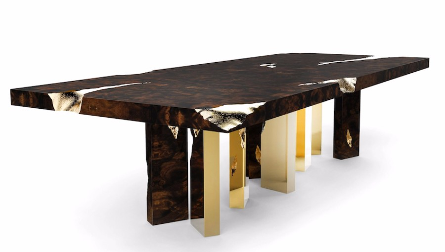 christmas decoration ideas Get Inspired by Golden Luxury Christmas Decoration Ideas Christmas Decoration Ideas empire dining table by boca do lobo