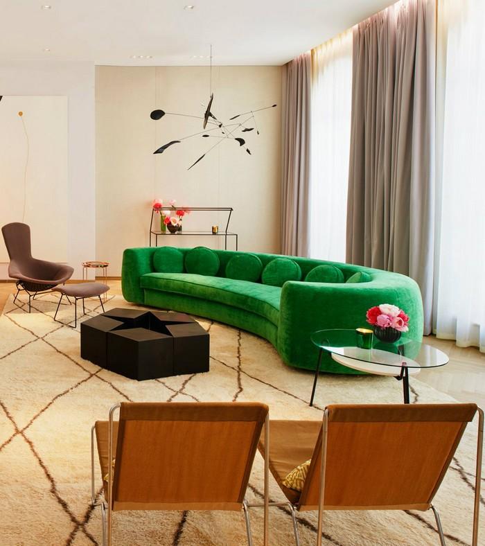 Seductive Curved Sofas For A Modern Living Room Design round sofa inspirations 2