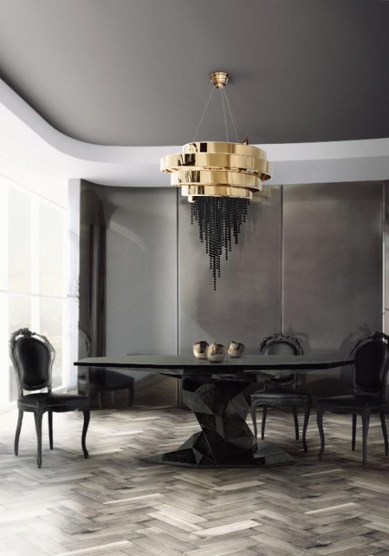 Modern Ideas Dark Dining Room 9