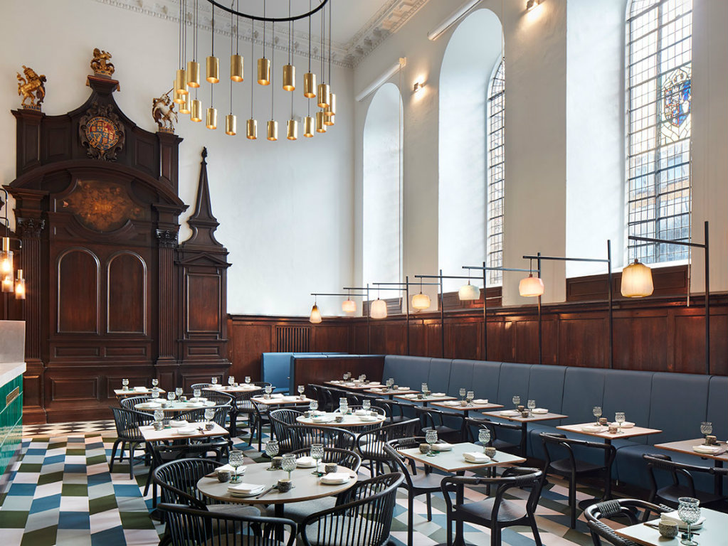 luxury restaurant Historic Church Transformed Into A Luxury Restaurant in London cover 10