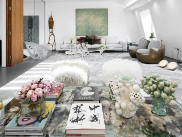 Artsy and Contemporary Penthouse in London by Fernanda Marques