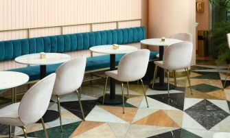 interior design Pink and Marble Enliven this Restaurant Interior Design in Tel Aviv cover2 3 335x201