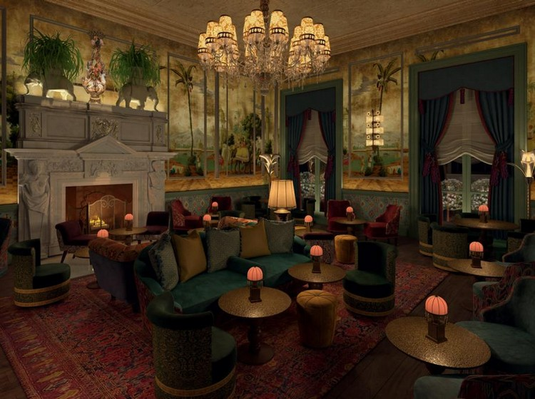 martin brudnizki The Flamboyant Club Annabel's Redesigned by Martin Brudnizki Studio luxury club london inspirations 18