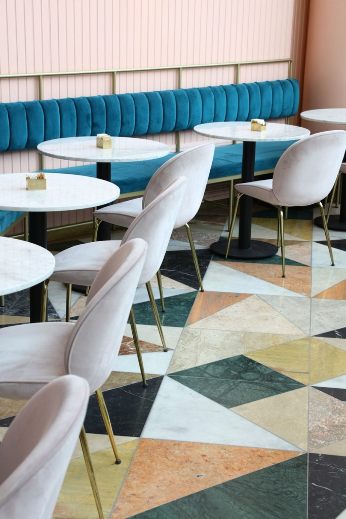 Pink and Marble Cheers Up this Restaurant Design in Tel Aviv interior design Pink and Marble Enliven this Restaurant Interior Design in Tel Aviv pink restaurant inspiration 5 683x1024
