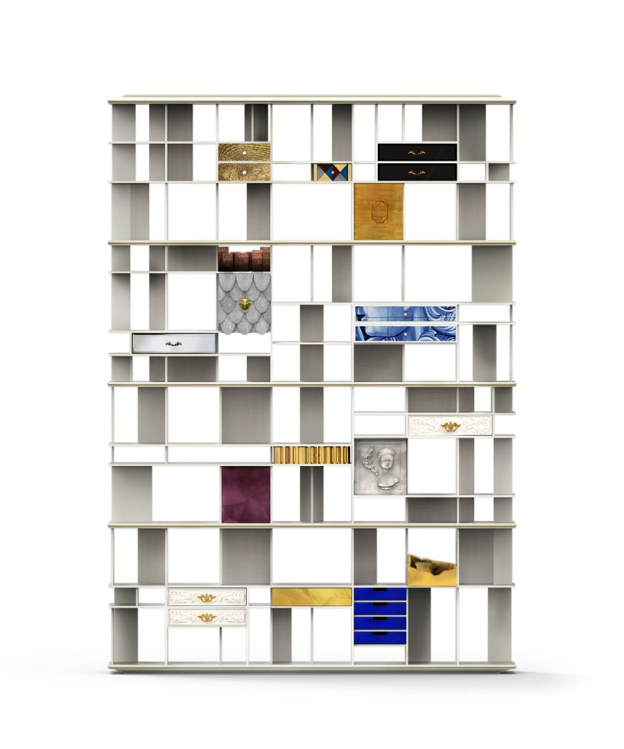 design projects Discover Boca do Lobo's Luxurious Design Projects coleccionista custom bookcase shelf 01