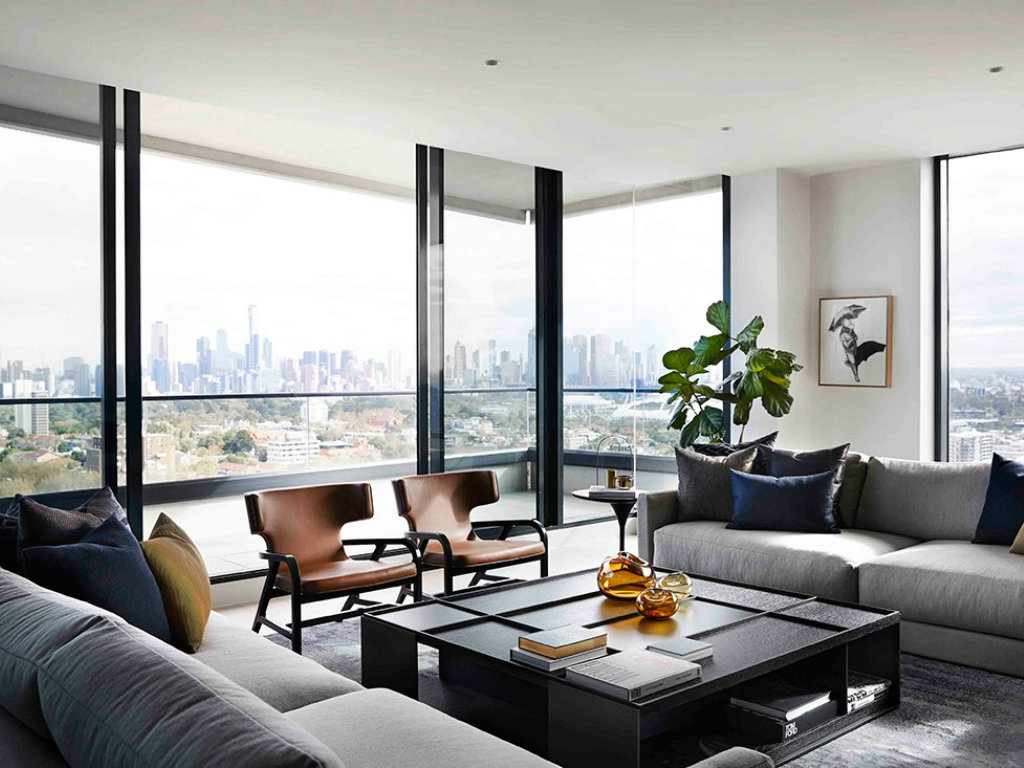modern penthouse Modern Penthouse Over Melbourne's Skyline cover 10