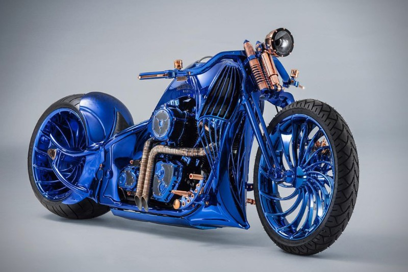 most expensive motorcycle The World's Most Expensive Motorcycle: Harley-Davidson Blue Edition harley