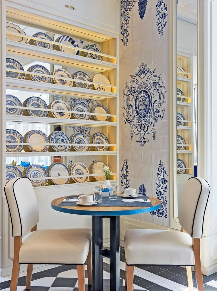 luxury hotel Hand-Painted Tiles Covered The Walls of the Luxury Hotel in Lisbon hotel lisbon inspirations 1
