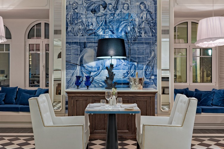 luxury hotel Hand-Painted Tiles Covered The Walls of the Luxury Hotel in Lisbon hotel lisbon inspirations 4