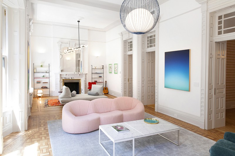 Bright and Modern Interiors Enliven a Historical NY Apartment interiors Bright and Modern Interiors Enliven a Historical NY Apartment manhattan partment inspirations 3