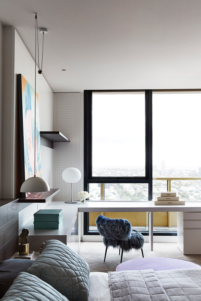 modern penthouse Modern Penthouse Over Melbourne's Skyline melbourn partment inspirations 1