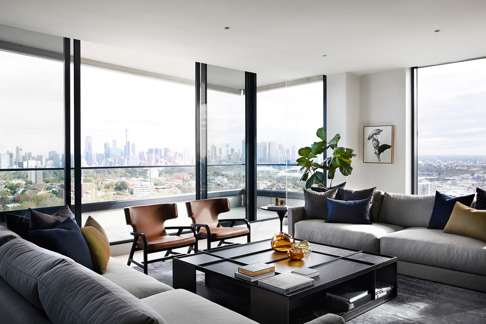 Modern Penthouse Over Melbourne's Skyline modern penthouse Modern Penthouse Over Melbourne's Skyline melbourn partment inspirations 11
