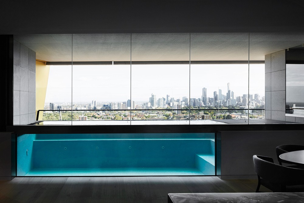 Modern Penthouse Over Melbourne's Skyline modern penthouse Modern Penthouse Over Melbourne's Skyline melbourn partment inspirations 7