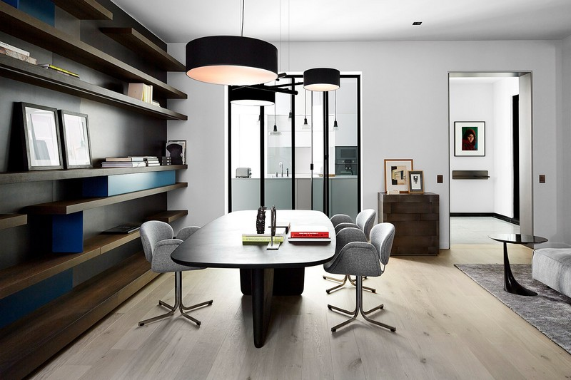Contemporary and Artistic Apartment by Bismut & Bismut Architects Contemporary Contemporary and Artistic Apartment by Bismut & Bismut Architects paris apartment inspirations 3