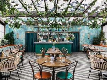 Vibrant and Fresh Pink Mamma Restaurant by Martin Brudnizki