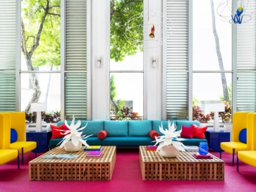 A Tropical Explosion of Color in this Hawaiian-Inspired Modern Hotel