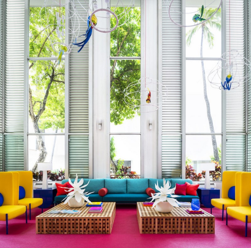 A Tropical Explosion of Color in this Hawaiian-Inspired Boutique Hotel