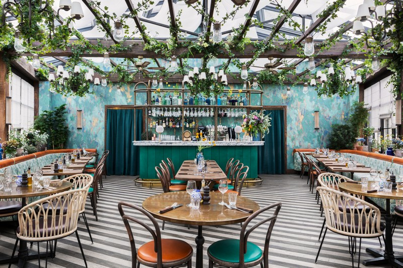 Vibrant and Fresh Pink Mamma Restaurant by Martin Brudnizki martin brudnizki Vibrant and Fresh Pink Mamma Restaurant by Martin Brudnizki paris restaurant inspirations 1