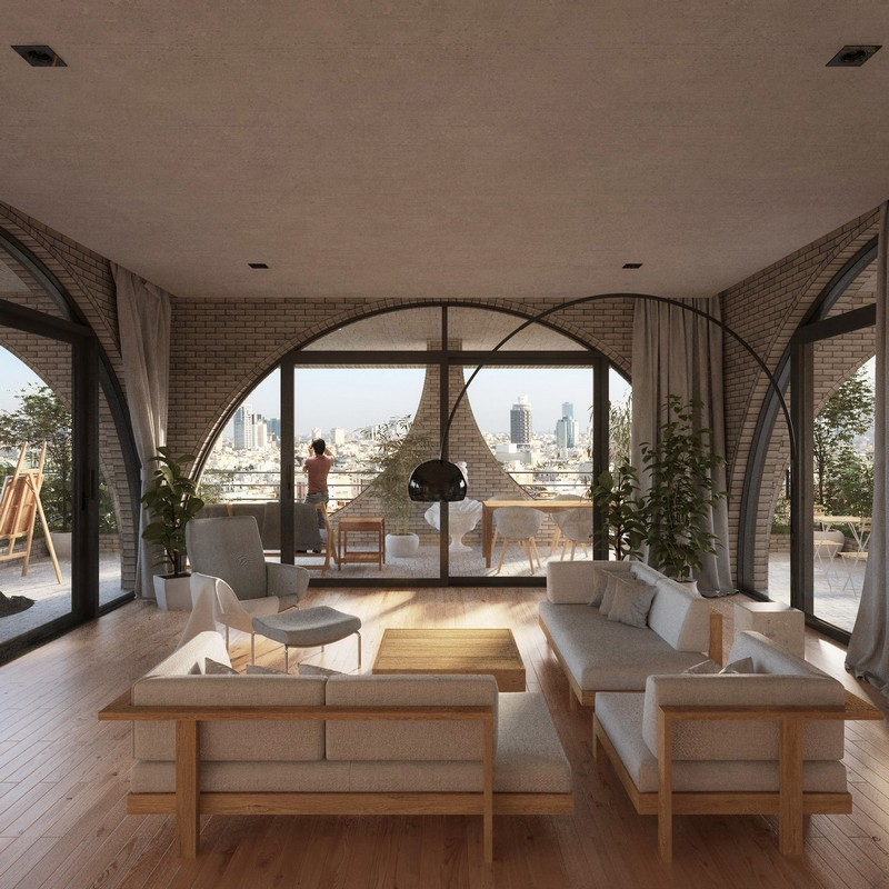 architecture Penda Architecture Unveils Cascading Residential Tower in Tel Aviv tel aviv tower inspirations 11