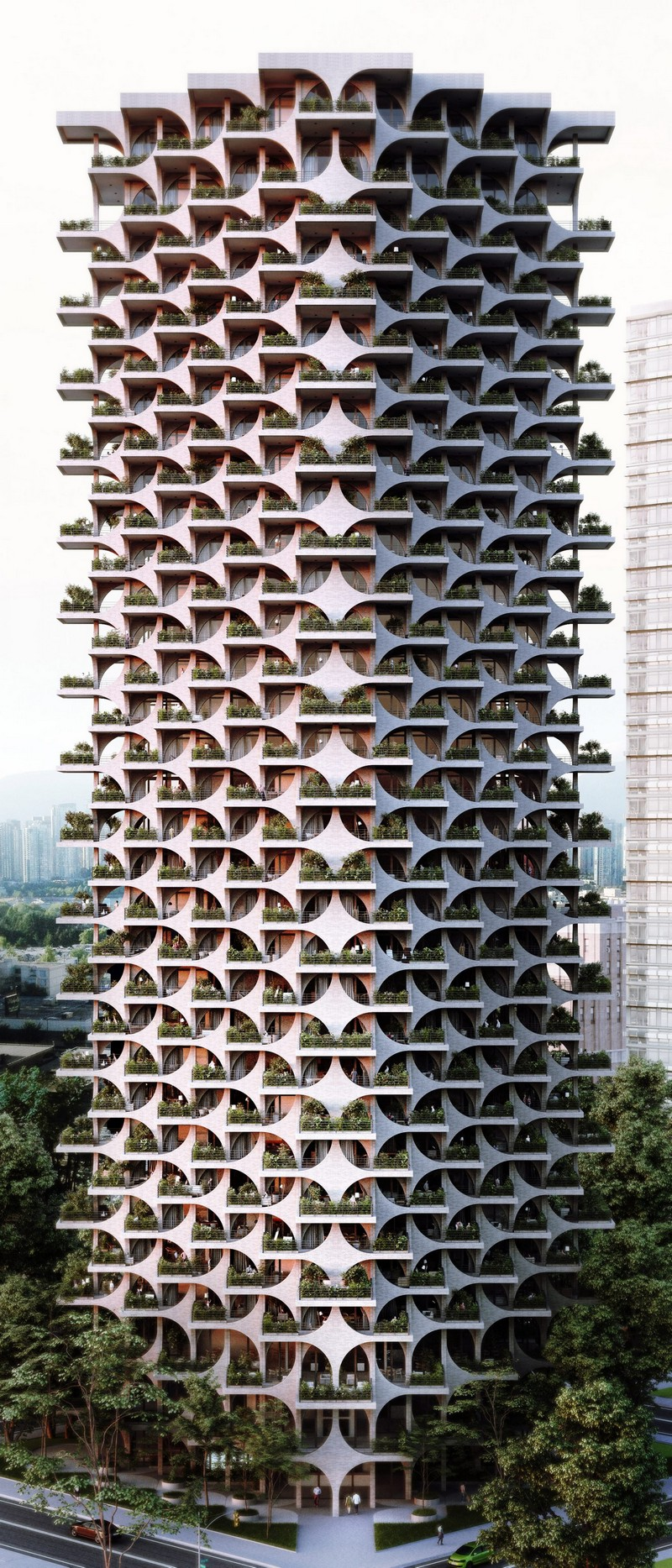 architecture Penda Architecture Unveils Cascading Residential Tower in Tel Aviv tel aviv tower inspirations 2