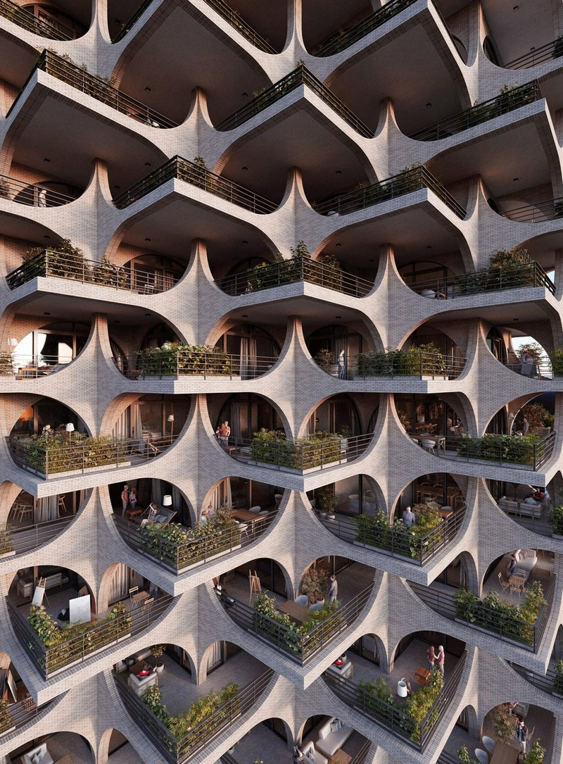architecture Penda Architecture Unveils Cascading Residential Tower in Tel Aviv tel aviv tower inspirations 3