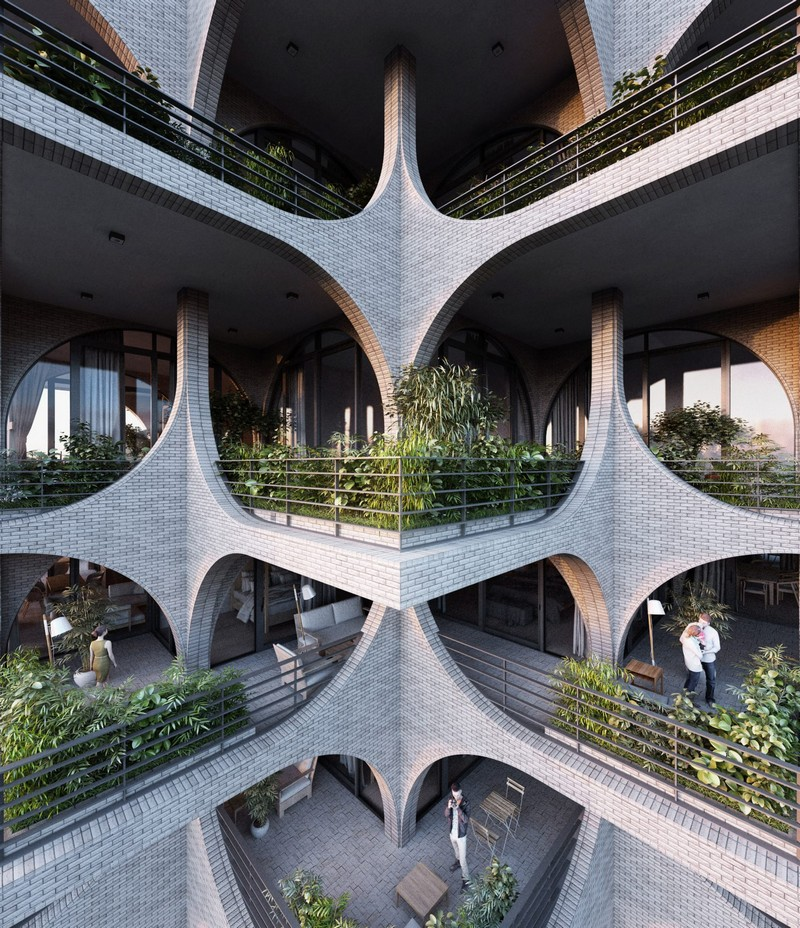 architecture Penda Architecture Unveils Cascading Residential Tower in Tel Aviv tel aviv tower inspirations 4