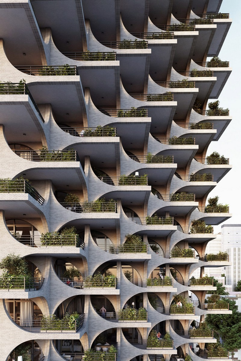 architecture Penda Architecture Unveils Cascading Residential Tower in Tel Aviv tel aviv tower inspirations 6