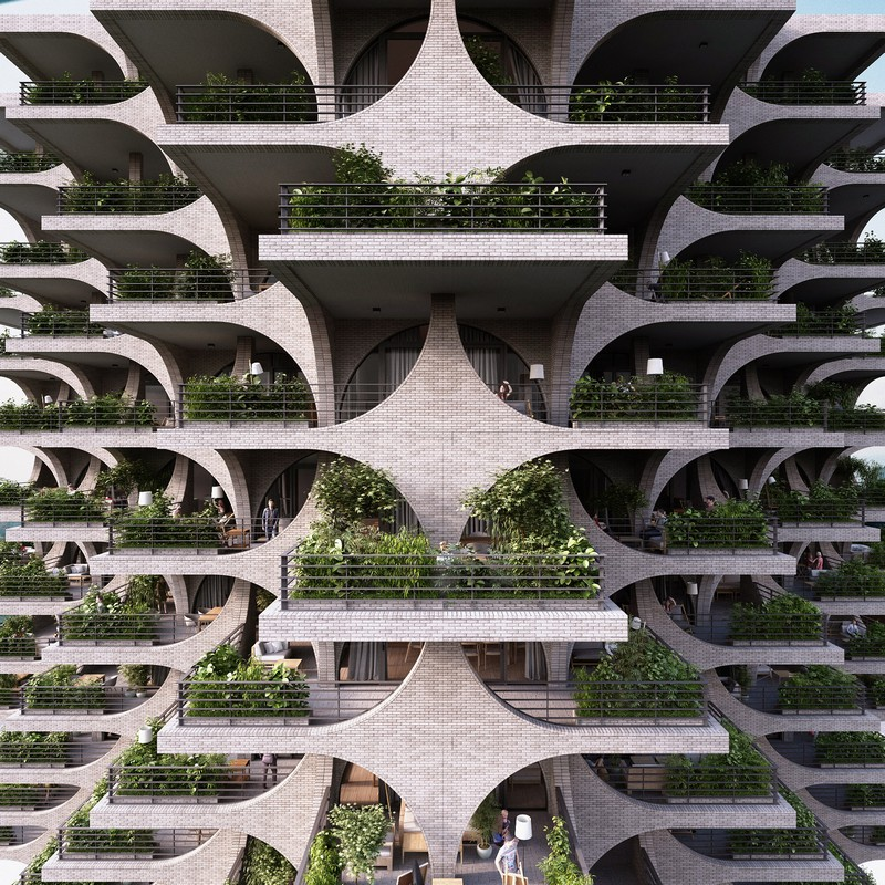 architecture Penda Architecture Unveils Cascading Residential Tower in Tel Aviv tel aviv tower inspirations 7