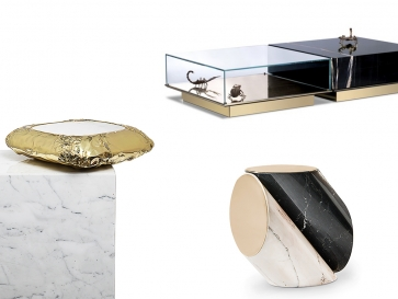 13 Precious Marble Center and Side Tables