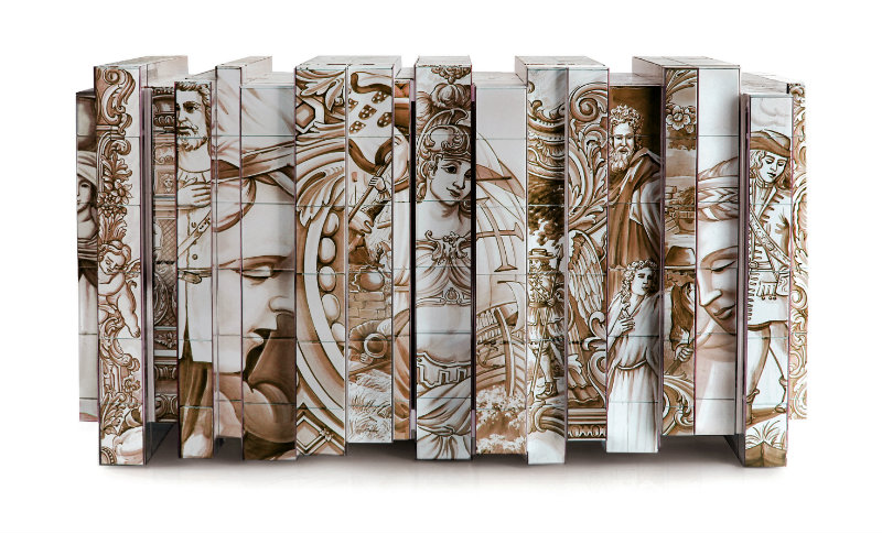 Modern A Modern Art Saved from The Past : Heritage Series by Boca do Lobo heritage sepia sideboard 01