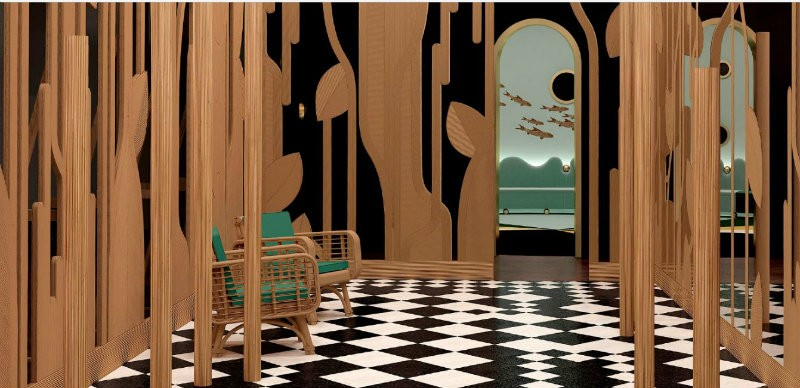 "design  ""Imaginary Architecture"" Design by India Mahdavi at Homo Faber India mahdavi inspirations7"