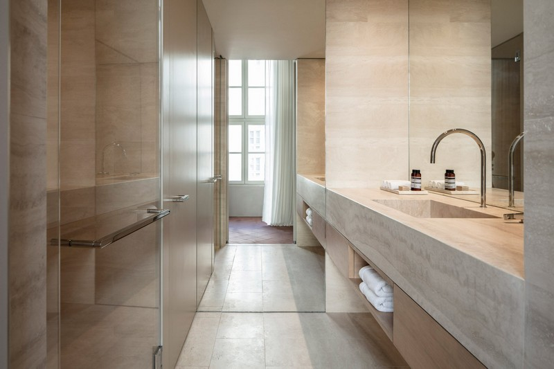 modern hotel John Pawson Transforms Old Monastery into a Modern Hotel in Tel Aviv John Pawson architecture inspirations17