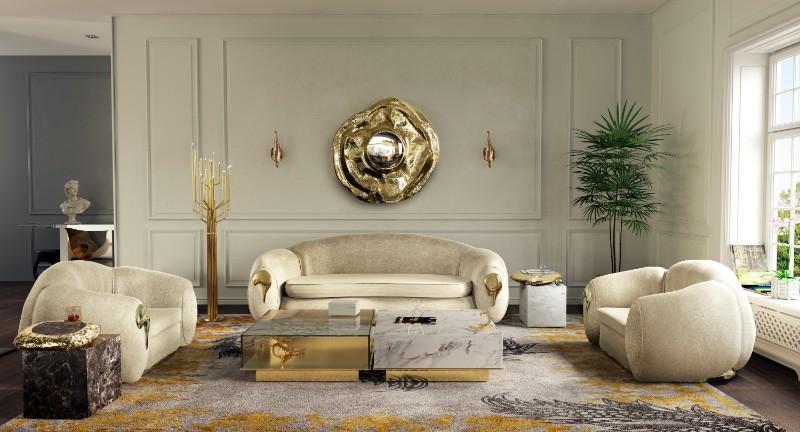Luxurious Living Room with Boca do Lobo's Design Concept
