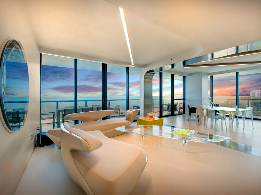 Zaha Hadid Zaha Hadid's One-of-a-kind Sculptured Residence in Miami cover 4