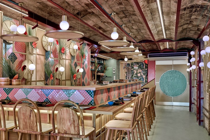 Tropical & Sushi Restaurant - Modern Design by Masquespacio Modern Design Tropical & Sushi Restaurant – Modern Design by Masquespacio masquespacio inspirations4