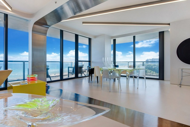 Zaha Hadid Zaha Hadid's One-of-a-kind Sculptured Residence in Miami modern architecture inspirations12