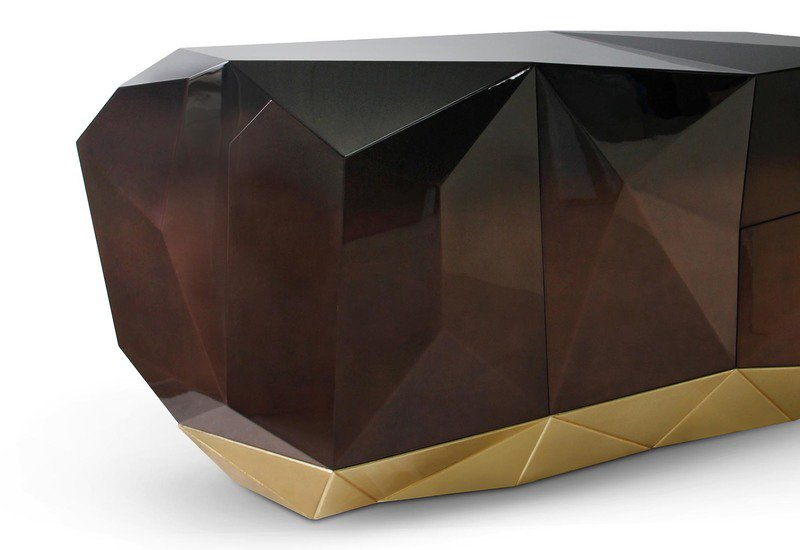 "design ""Diamonds Are Forever"": Diamond Family The Classic Design for Your Home Diamond Chocolate Sideboard Boca do lobo Treniq 2"