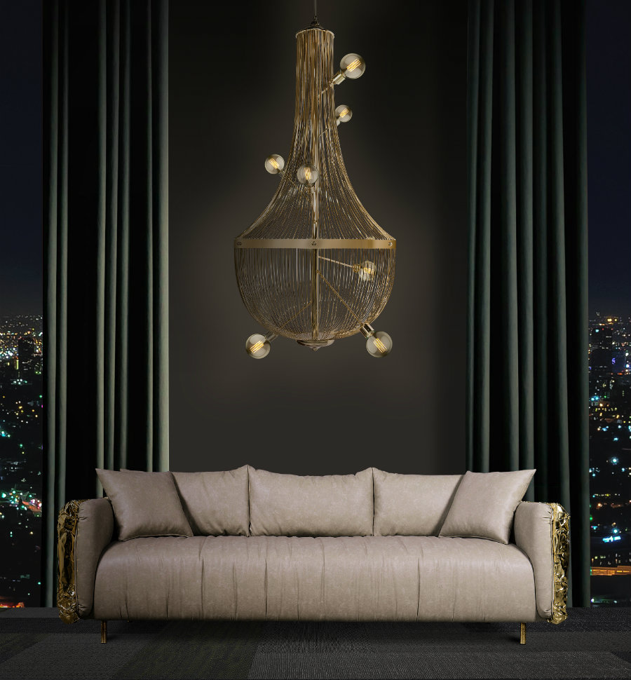 design Covet NY: The Newest Design Showroom in Town is Ready to Welcome You ambience imperfectio sofa and l chandelier