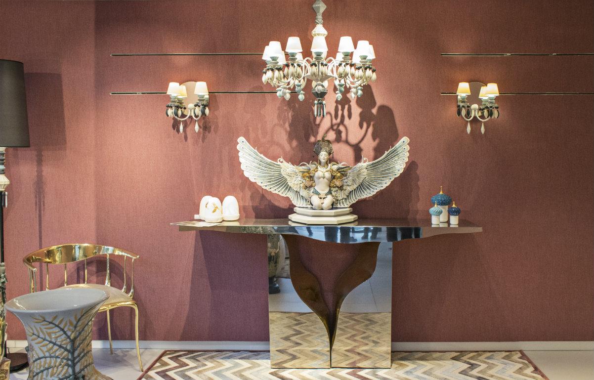 art pieces Lladró Showroom's Decor With Boca do Lobo Fine Art Pieces cover 2