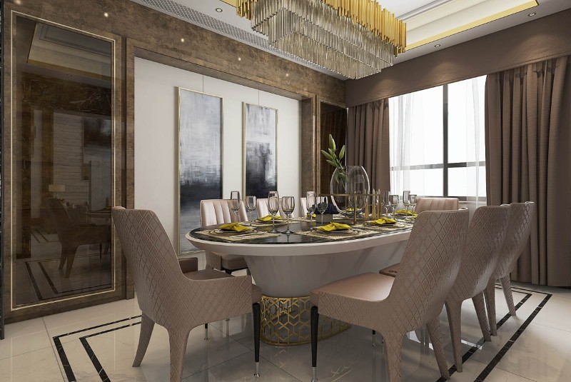 Luxury Home Luxury Home with an Asian Interior Design luxury dining room