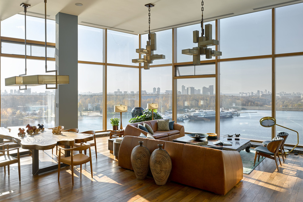 modern architecture Apartment with Stunning Views and Modern Architecture in Moscow moscow apartment inspirations 3