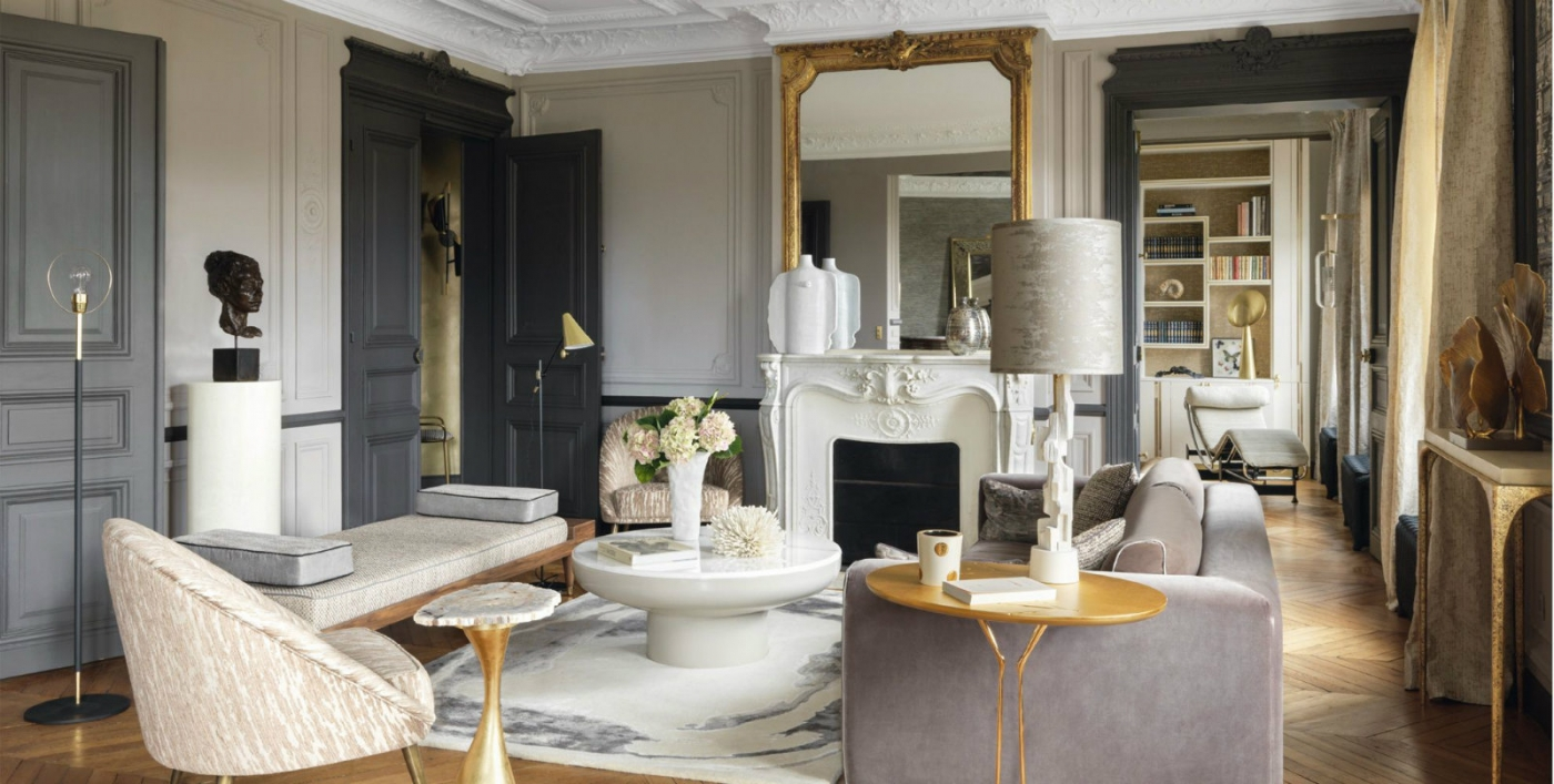 contemporary Romantic and Contemporary Parisian Apartment by Anne-Sophie Pailleret cover 1400x707