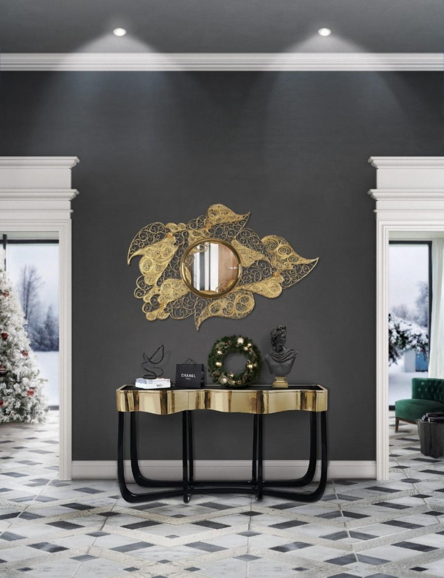 christmas decoration ideas Get The Look: Christmas Decoration Ideas With Boca do Lobo filigree entryway natal 1