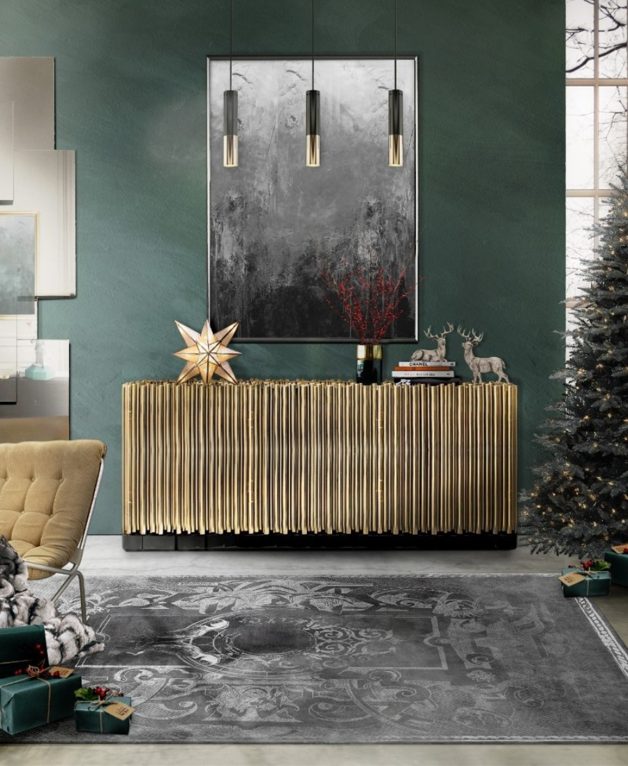 christmas decoration ideas Get The Look: Christmas Decoration Ideas With Boca do Lobo symphony sideboard chirstmas 1