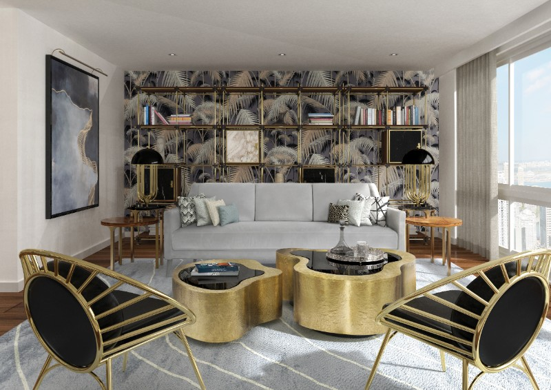 gold furniture gold furniture Trending Now: The Best Gold Furniture For Your Luxury Interior Design EssentialHome ambience reeves armchair blake shelf