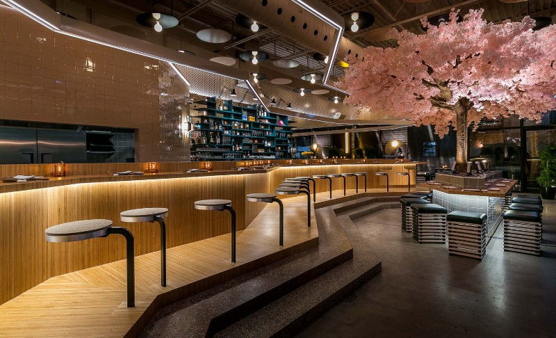 Le Blossom A Japanese Restaurant Design By Menard Dworkind