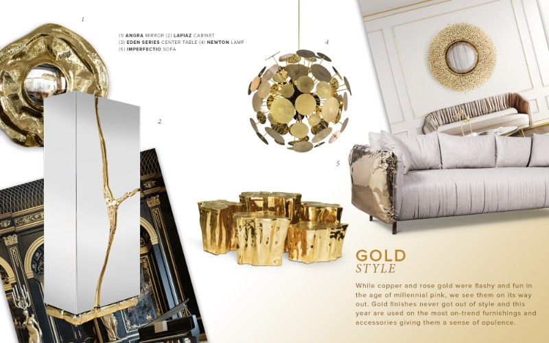 gold furniture Trending Now: The Best Gold Furniture For Your Luxury Interior Design gold style mood 1