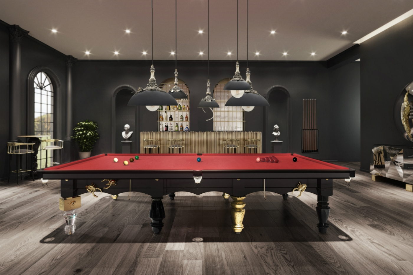 snooker table The Metamorphosis Snooker Table – Furniture Invaded by Bugs feature 3 1400x933