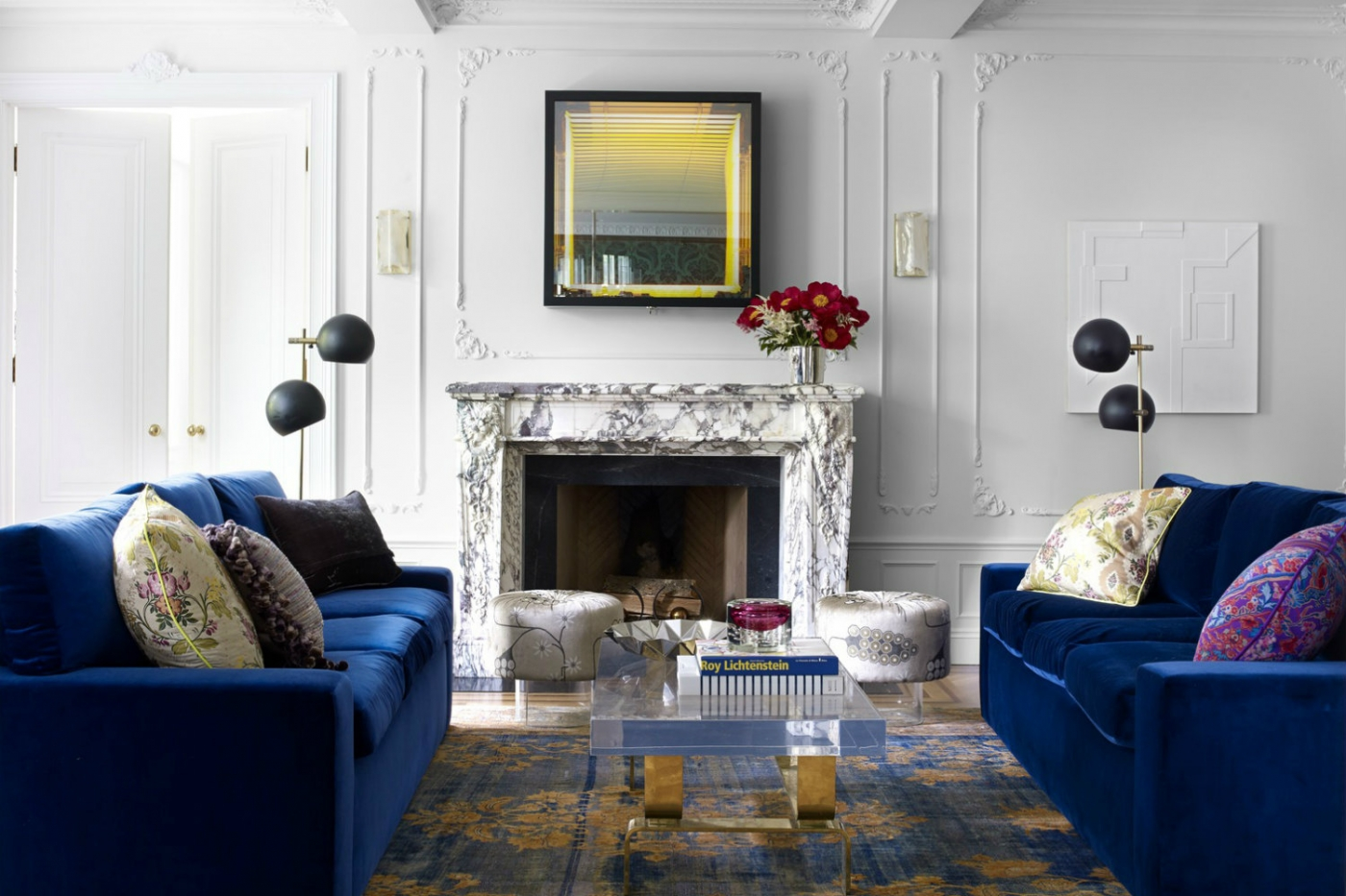 stunning award winning living room interiors | Top 11 Blue Living Room Designs by Best Interior Designers